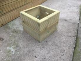 Wooden planters.