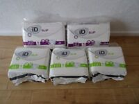 incontinence briefs - iD Slip briefs size small - super and maxi -incontinence pads £10 for the lot