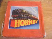 HORNBY O GAUGE CLOCKWORK TRAIN SET WITH EXTRA TRACK ETC