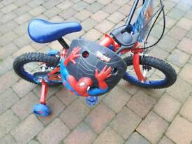 Boys Superman bike kids