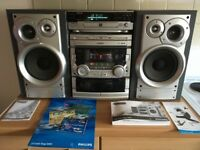 phillips hifi 4 disc with cd recorder