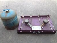 Camping stove and 907 gas bottle