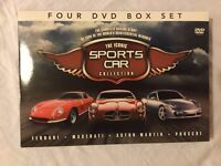"""NEVER USED- """"The Iconic Sports Car Collection"""" 4 DVD, Box Set. Exc. cond. Just sat on a shelf!"""