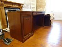 Desk (mahogany 110x59x78cm high)+matching Printer Cabinet 48x59x78cm) vgc