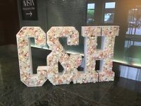 LIGHT UP letters LOVE, MR & MRS, Initials, all letters available for wedding engagement party