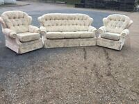Bargain Italian Fabric Sofas Excellent Condition, Free Delivery In Norwich,