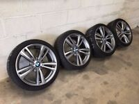 Genuine BMW 3 SERIES 4 SERIES 19 INCH 442 M SPORT ALLOY WHEELS AND TYRES F30 F31 F32 F33 F34 E92