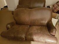 Leather Sofa's & Armchair - Laura Ashley