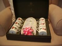 ROYAL WORCESTER ARDEN BONE CHINA PRESENTATION BOX OF SIX COFFEE CUPS AND SAUCERS UNUSED