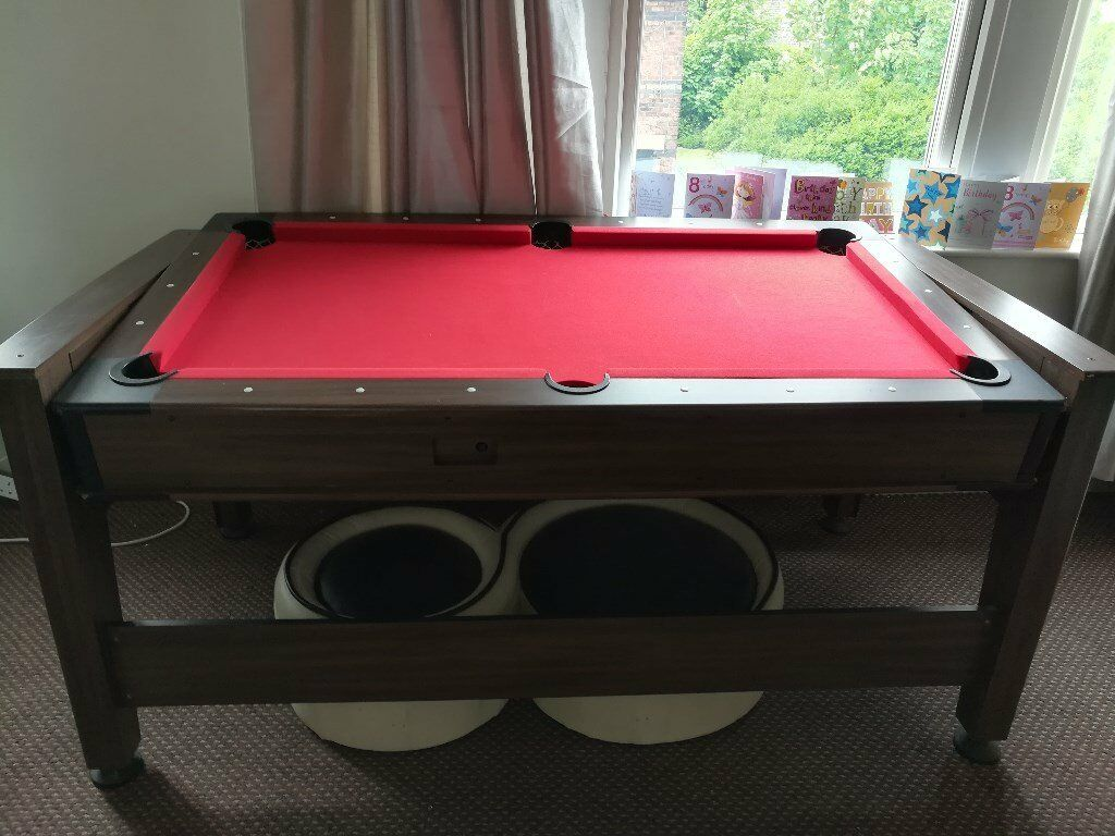 2 in 1 Pool and Air Hockey Table