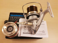 SHIMANO ULTEGRA XSB 5500 REEL PLUS SPARE SPOOL VGC. CARP OR SEA FISHING