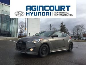 2013 Hyundai Veloster Turbo/MATTE GREY/NAVI/OFF LEASE/ONLY 44708