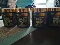 4x Optimum Nutrition, Gold Standard, Pre-Workout. New and Sealed.