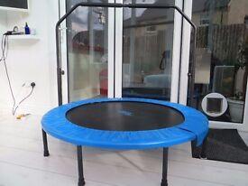 Upper Bounce Mini Foldable Rebounder Trampoline /Adjustable Handrail