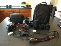 Canon 600D DSLR Camera + Lenses - Filmmaker/Photographer Bundle (Perfect Working but Used Condition)