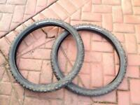Mountain bike tyres Michelin wild grip r 2.40 barely used