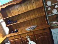 Solid pine kitchen dresser immaculate condition
