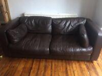 Good quality leather sofa £50
