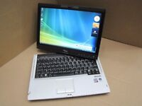 fUJITSU LIFEBOOK TABLET LAPTOP 2.4GHZ 4GB 500GB DVDRW WIN 7 TOUCHSCREEN