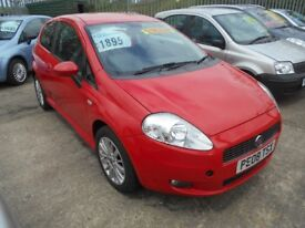 FIAT PUNTO GRANDE 1.4 ACTIVE 3DR 2008 MODEL 97,000 MILES,12 MONTHS MOT ON PURCHASE,6 SPEED GEARBOX