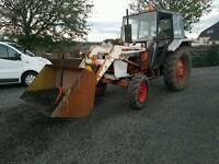 David brown 885 tractor with front loader stables small holding etc