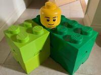 Lego storage blocks - green
