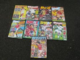 'Shoot' Football Annuals x 9