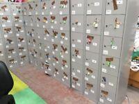 18 Steel Lockers/Steel Lockers/Staff Storage Lockers/Keys/Gym Lockers
