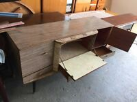 Retro sideboard / cocktail cabinet with table and x4 chairs