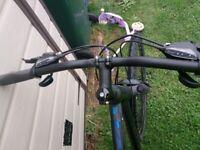 Hybrid bike 21 inch frame