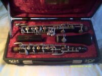 AN OBOE by SCHRIEBER , 3 PIECE INSTRUMENT In IT's CASE SER No 222981 +++++++