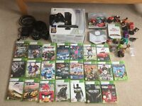 XBox 360s Console, XP400 Turtle Beach Headset and 23 games, Disney Infinity base & accessories