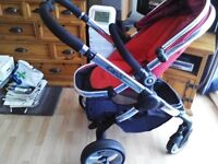 ICandy PEACH 2 Pram buggy tomato Red.