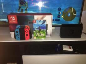 Nintendo switch, boxed plus zelda