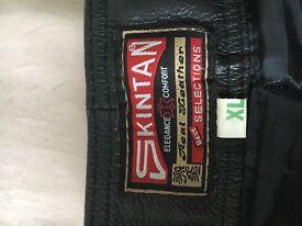 Black leather biker gear