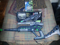 Sniper scope light rifle and shotgun boxed with game for xbox