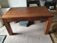 Walnut extending dining table