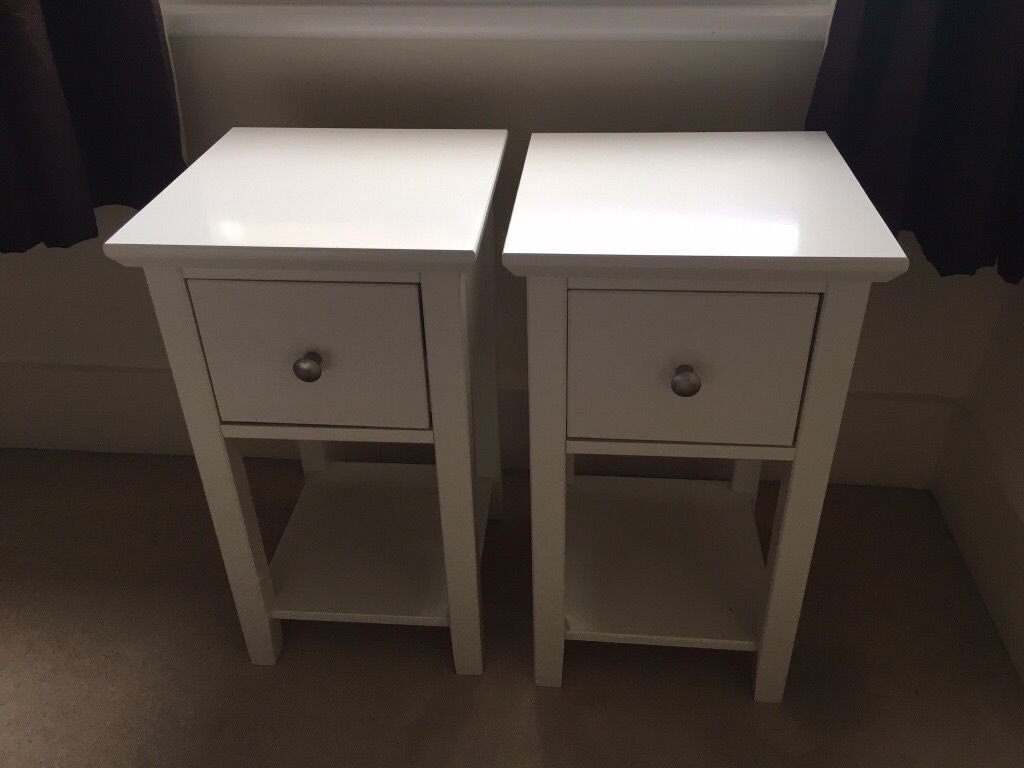 Marks And Spencer Hastings Bedroom Furniture Ms Hastings White Bedside Tables For Sale In Guildford Surrey