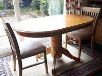 Oval Oak Effect Dining Table