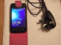 samsung galaxy ace mobile phone,model gt-s5830i,comes with case & charger,good condition.