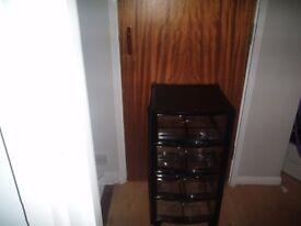 tough transparent mobile storage (tower) cabinet