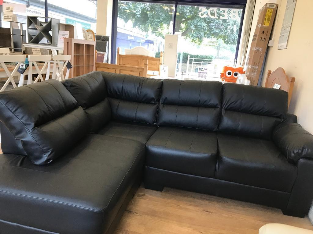 Saskia Leather Real Left Hand Compact Corner Sofa