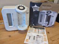 Tommee Tippee Perfect Prep Machine - baby milk prep machine - free microwave steriliser