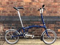 Excellent condition Brompton M3L bicycle for sale