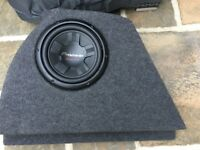 10 inch Sub Box Subwoofer Enclosure Bass With Speaker Ford Focus MK1/MK1.5