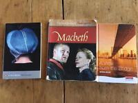 English Higher books. £3 each.