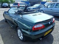 2003 53 reg rover mg tf 1.6 convertible mot to 5/2017 mile 76000 good we car £795 to clear