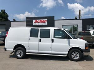 2017 GMC Savana 2500 shelving and ladder racks available!