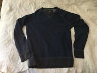 American Eagle Outfitters unisex navy crewneck jumper, XS