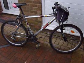 ten gear mountain bike ex con not used much